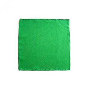 "Pañuelo de seda - 15 cm - Verde (6"" X 6"")"
