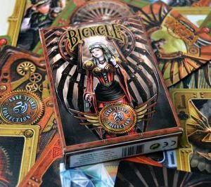 Baraja bicycle Anne Stokes. Steampunk