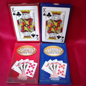Baraja Jumbo Playing cards. Roja